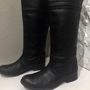 FRYE Melissa Black Leather TALL Knee High Boots